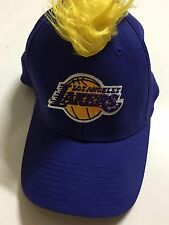 L.A Lakers Basketball Embroidered Mohawk Faux Hair Baseball Cap Hat Flex-Fit
