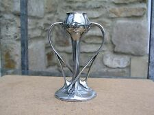 RARE LIBERTY & CO TUDRIC PEWTER SMALL TULIP VASE DESIGNED BY ARCHIBALD KNOX 029