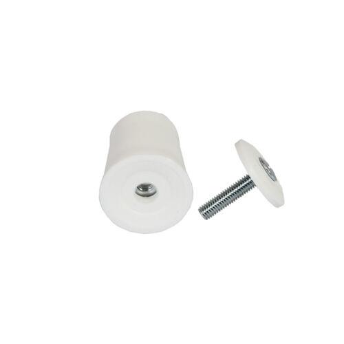 20 x Rideau Roulant attentat attentat butées Blanc attentat tampon extrémité 40 mm