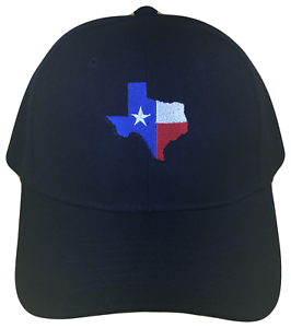 Texas Flag State Shape Baseball Cap Caps Hat Hats USA Black Red ... b65f02e75