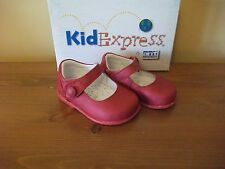 Girls KIDEXPRESS 1308 'Frances' Red LEATHER Hook/Loop SHOE UK 4 Eur 20 BNIB