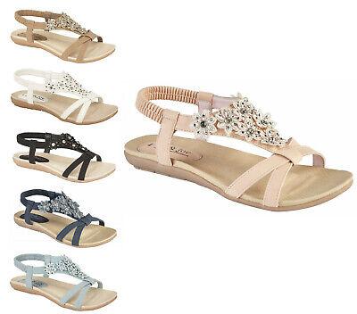 Womens Gladiator Sandals Jo /& Joe Womens Ravello Sandals Elasticated Back Sandal