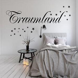 Details zu Wandtattoo Schlafzimmer Traumland 20 Sterne Spruch