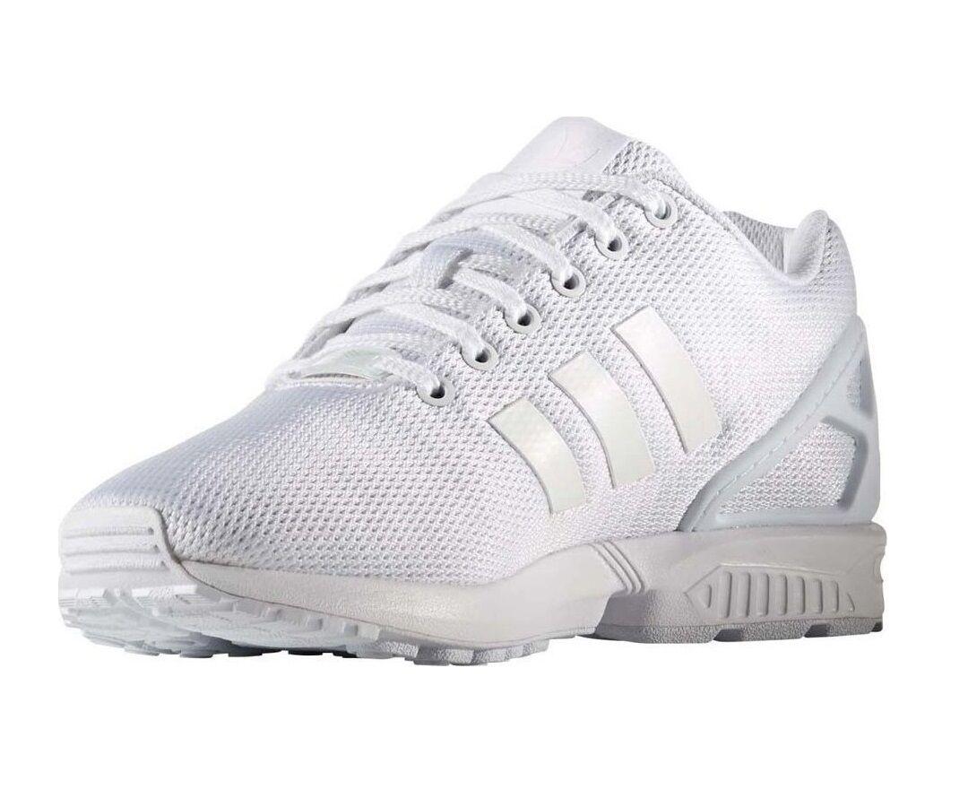 7fb2b884a adidas Originals ZX Flux Triple White Men Running Shoes SNEAKERS ...