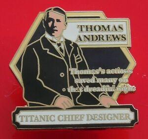 Danbury-Mint-Enamel-Pin-Badge-Titanic-Ship-Boat-Thomas-Andrews-Chief-Designer