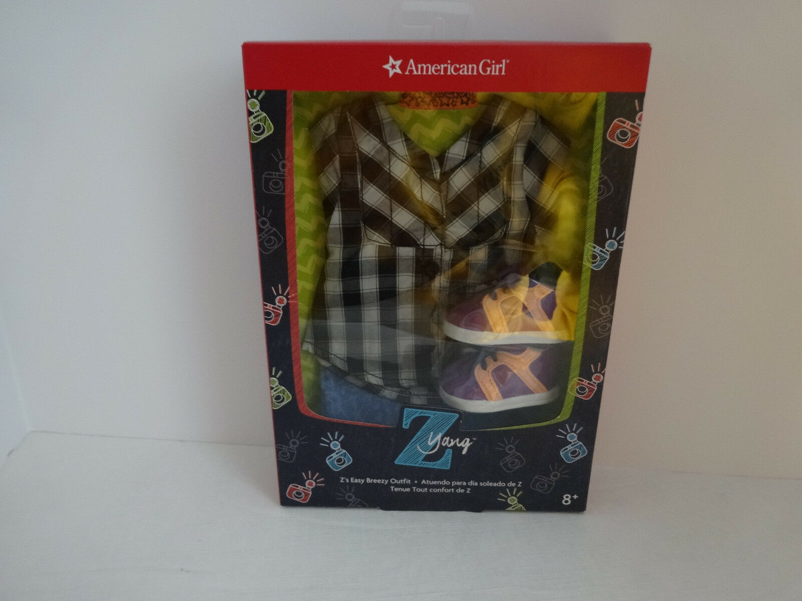 AMERICAN GIRL Z YANG EASY BREEZY OUTFIT - RETIRED - NEW -  IN ORIGINAL BOX
