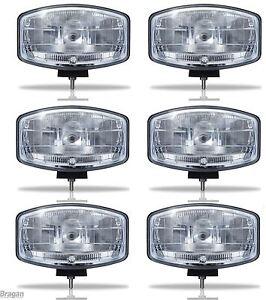 6x-24v-9-5-034-Jumbo-Oval-Black-ABS-Spot-Lamp-LED-Scania-Volvo-DAF-MAN-Truck