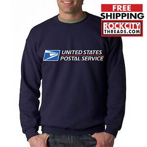 USPS-POSTAL-NAVY-3C-CREW-NECK-Sweatshirt-Logo-on-Chest-United-States-Service-US