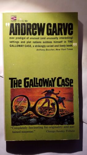 E-89 Suspense Mystery 1964 Lancer Books The Galloway Case: Andrew Garve
