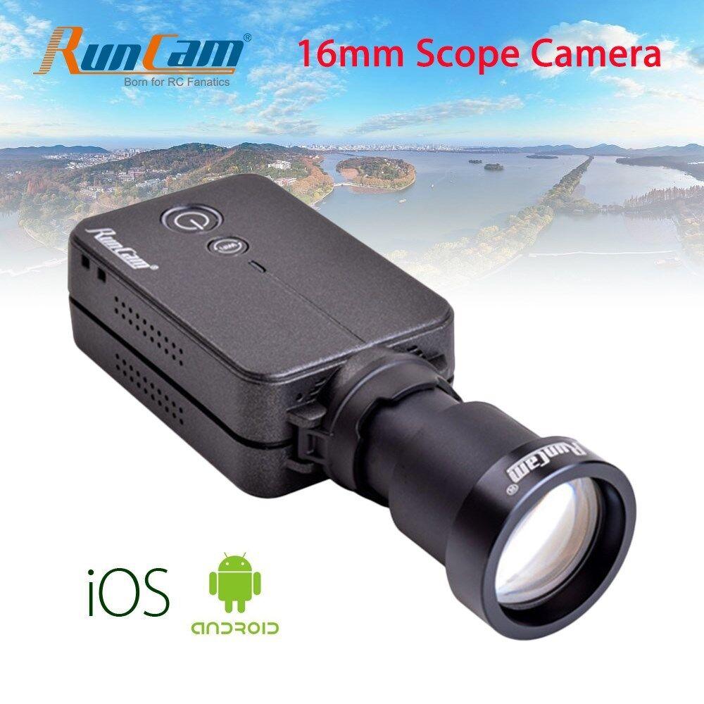 HD 1080P Wifi Cámara FPV alcance Video Grabadora 16mm Metal 180 ° App para RC Drone