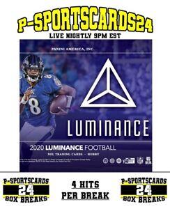 2020-PANINI-LUMINANCE-FOOTBALL-CARDS-NFL-LIVE-HOBBY-BOX-LIVE-BREAK-3805-4-HIT