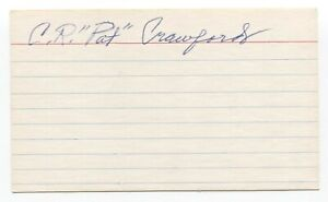 Pat Crawford Signed 3x5 Index Card Autographed Baseball 1934 St Louis Cardinals