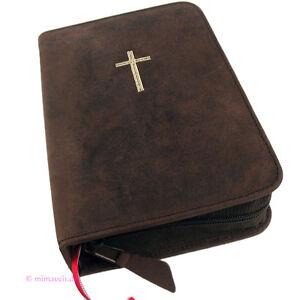 Bücher Großdruck Gotteslob Hülle Gotteslobhülle Leder Braun Mit Kreuz In Gold Gebetbuch Buchhülle