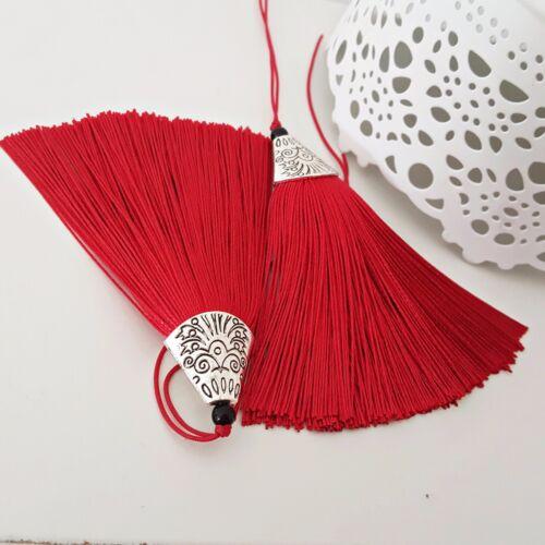 NELLYS Anhänger Tassel Quaste aus Reyon Mala ca 8cm lang DIY Schmuck