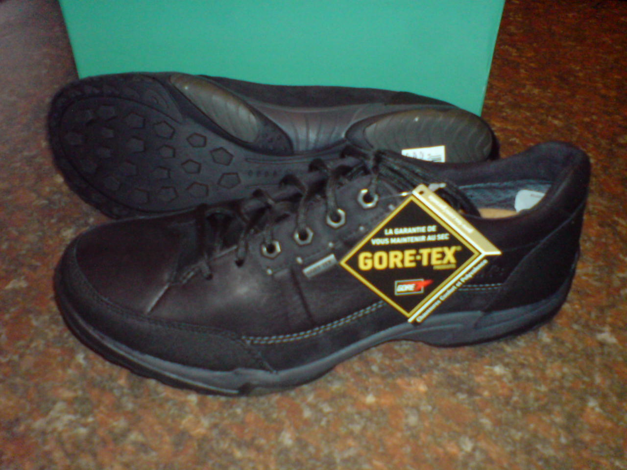 New Clarks Mens  ROD SHOT GTX   BLACK SHOE   UK 6.5   true 6
