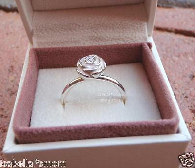 1b40e1584 Details about ROSE GARDEN Authentic PANDORA Silver/PINK ENAMEL Flower Ring  6/52 NEW w BOX!