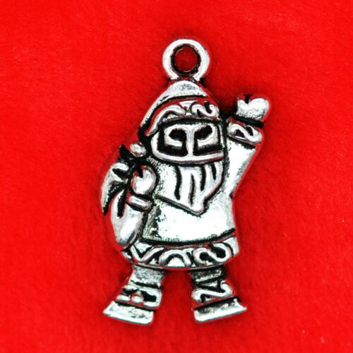 10 x Tibetan Silver XMAS Christmas Santa Charm Pendant Finding Bead Making