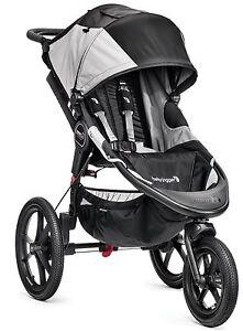Baby Jogger Summit X3 Jogging Stroller Black Gray New