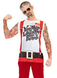 1755867fbf44 Image is loading Faux-Real-Christmas-Tattoo-Suspender-Santa-Xmas-Holiday-