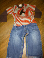 2 Pc LOT ~GAP LOOSE FITJEANS~CACH CACH STRIPED AIRPLANE SHIRT Sz 2
