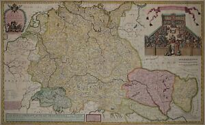 Heiliges Römisches Reich Karte.Details About Heiliges Römisches Reich Deutscher Nation Rare Große Karte Von H Moll 1720
