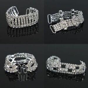 Girls-Women-Sexy-Pin-Up-Silver-Glass-Clear-Crystal-Rhinestone-Bikini-Belt-Buckle