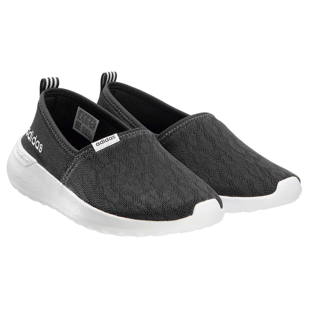 NEW Womens Black ADIDAS Slip On CloudFoam Neo Size Lite Racer Shoes Sneakers Size Neo 8.5 dbb256