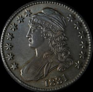 1831 Bust Half Dollar AU/BU Details 0-119 R.3 Superb Eye Appeal Nice Strike
