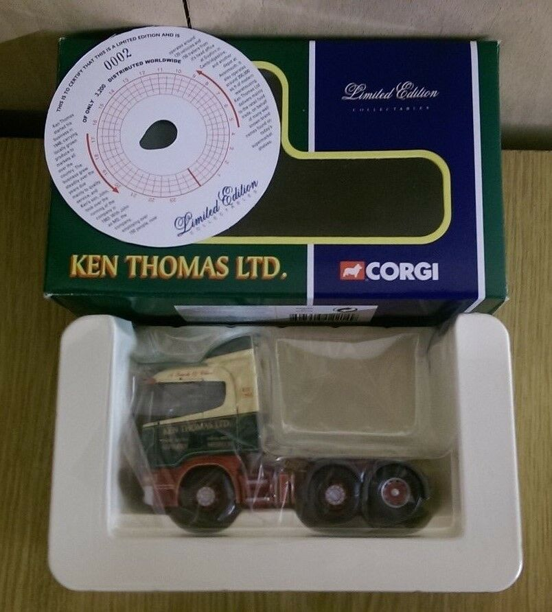 Corgi CC12214 Scania 4 series Tractor Ken Thomas Ltd Guyhirn Ltd Ed 0002 of 3200