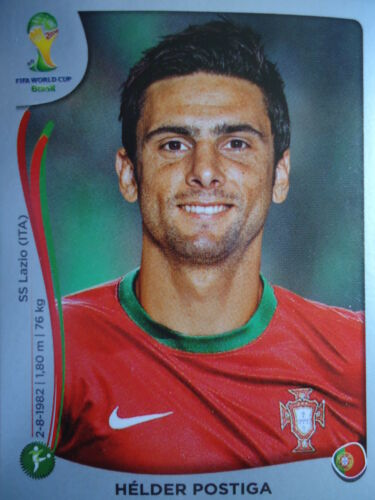 Panini 524 Helder Postiga Portugal FIFA WM 2014 Brasilien