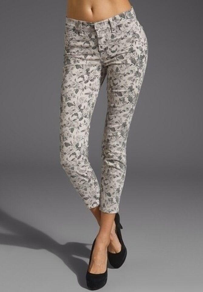 NWT J Brand 835 Mid Rise Floral Print Twill Capri Jeans SIZE 26