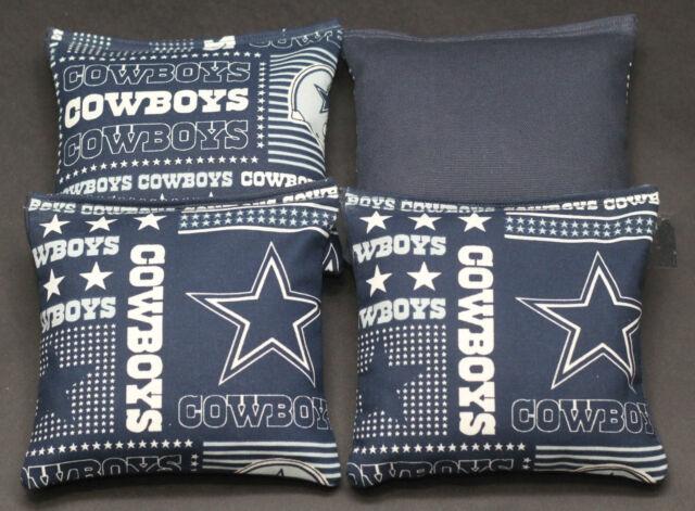 Stupendous Dallas Cowboys Cornhole Bean Bags 4 Aca Regulation Bags Tailgate Baggo Toss Lamtechconsult Wood Chair Design Ideas Lamtechconsultcom