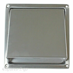 Stainless Steel Tumble Dryer Wall Air Vent Cowled Hood Outlet Non ...