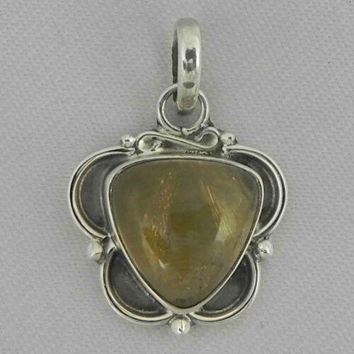 Details about  /Solid 925 Sterling Silver Citrine Pendant Necklace Women PSV-1949