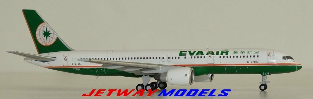 NEW 1 400 JC WINGS EVA AIR BOEING B 757-200 B-27017 Model JC4417