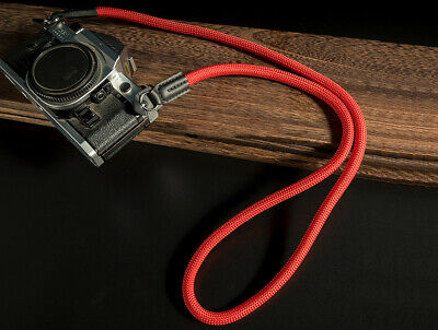 Red Nylon Climbing Rope Neck Strap 100cm long for DSLR micro Camera UK SELLE