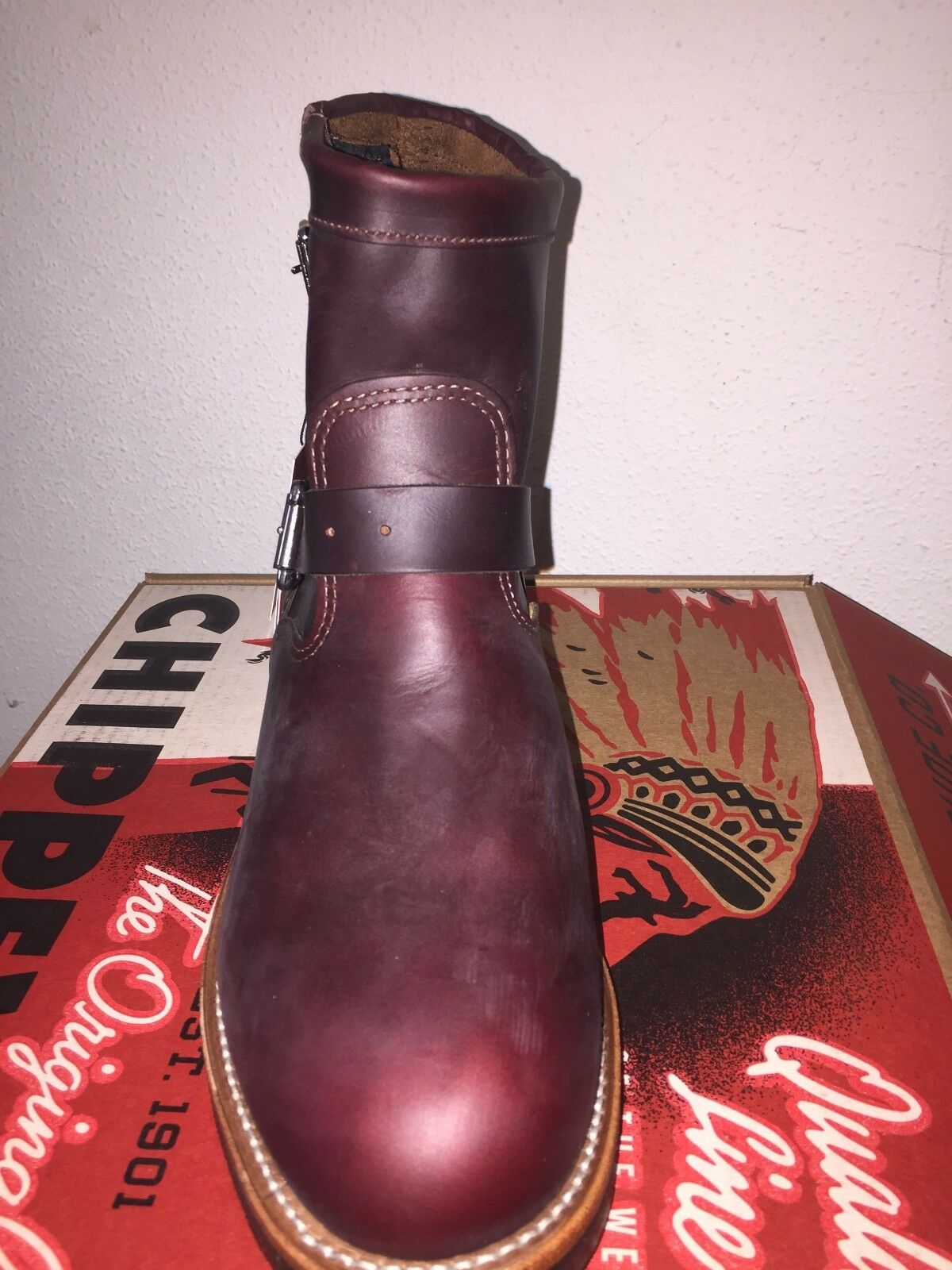 Engineer boots men's 11 E Chippewa Cognac Cognac Cognac or Blk $395 each pr da22f6