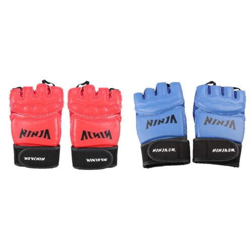 VFN Boxing Fingerless Gloves for Punch Bag Training Adult Sparring Gym Fitness