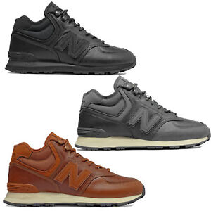 Details about NEW Balance 574 Mid Leather Mens Winter Shoes Leather Trainer  Hi-Top Shoes New- show original title