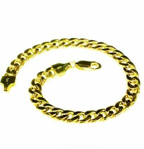 14k Yellow Gold Miami Cuban Curb Link 8.5
