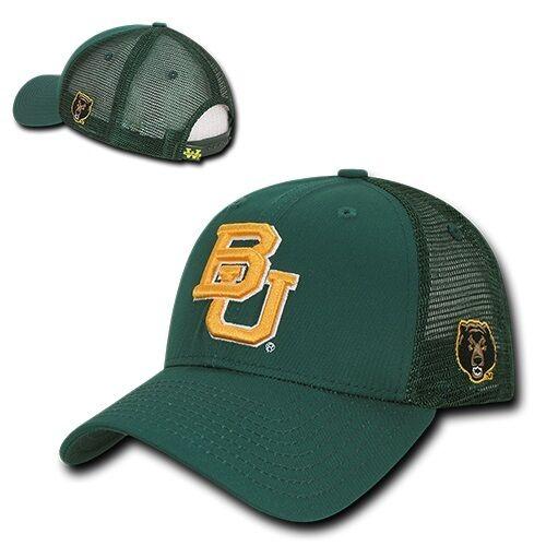 Green Baylor University BU Bears NCAA Cotton Trucker Mesh Baseball Hat Cap   cbf3da4ef11