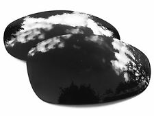 ENGRAVED BLACK POLARIZED CUSTOM MIRRORED REPLACEMENT OAKLEY JULIET LENSES