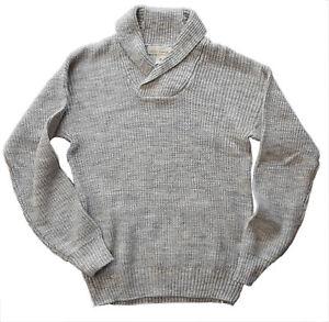 af6071d779019b H&M Mens Jumper H M GREY Knitted MELANGE Cotton Knit Top UK L £29.99 ...