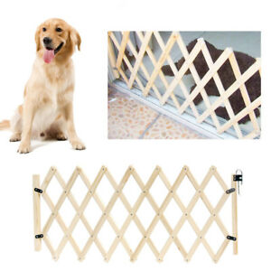 Baby Pet Safety Gate Dog Barrier Retractable Folding Home Doorway