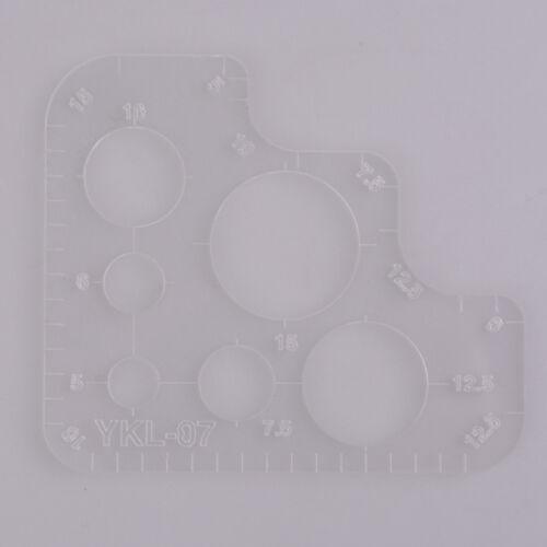 Diy handgemachte Leder Werkzeug R Lineal runden Ecken voller Größe Acryl VoTPI