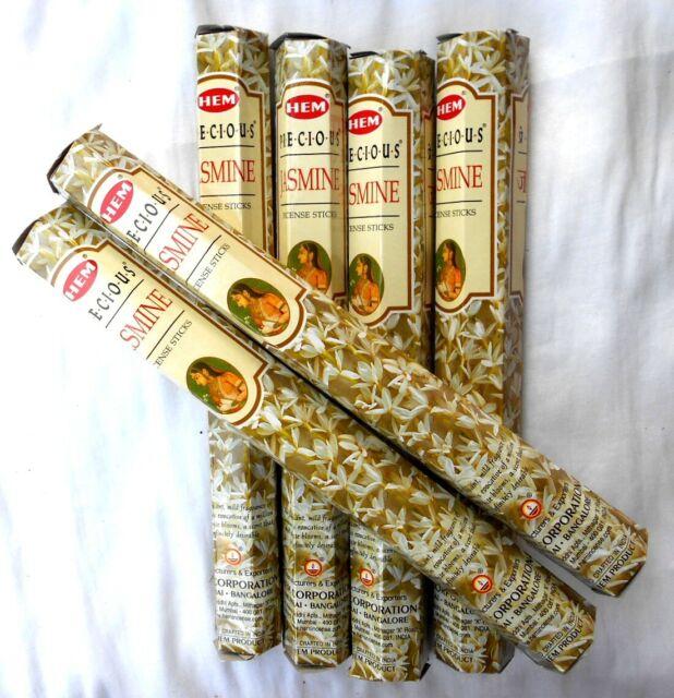 á 20 Stück RÄUCHERSTÄBCHEN Marke HEM   incense jasmine JASMIN 6 Pckg