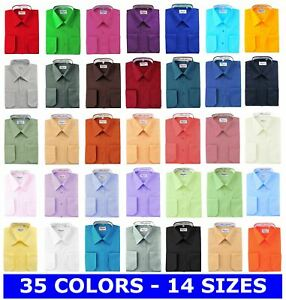 BERLIONI-ITALY-MEN-039-S-DRESS-SHIRT-FRENCH-CONVERTIBLE-CUFF-DRESS-SHIRT-ALL-COLORS