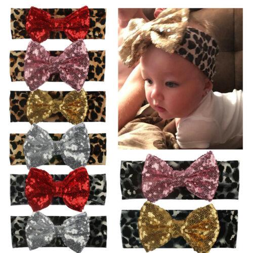 Girls Baby Toddler Turban Floral Headband Hair Band Bow Accessories Headwear