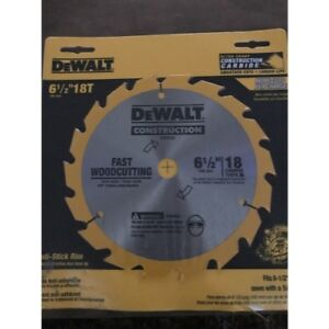 DEWALT-Series-20-6-1-2-034-18-Tooth-ATB-Thin-Kerf-Saw-Blade-w-5-8-034-Arbor