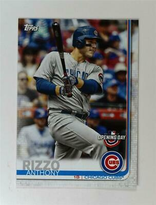2019 Topps Opening Day #86 Anthony Rizzo Chicago Cubs Baseball Card